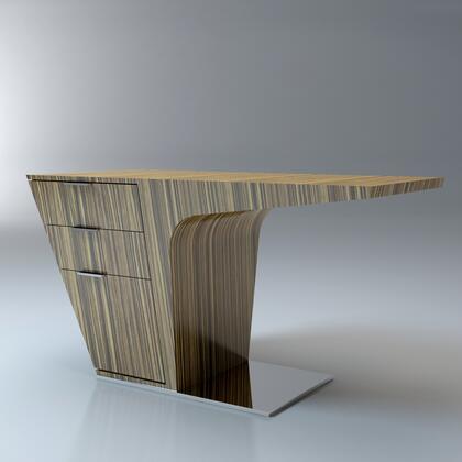 Modloft MD150ZEBLAQ Mercer Series Writing  Metal Desk