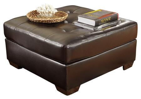 Signature Design by Ashley 2010X08 Alliston DuraBlend Oversized Accent Ottoman with Thick Tufted Seat Cushion and Tapered Block Feet in
