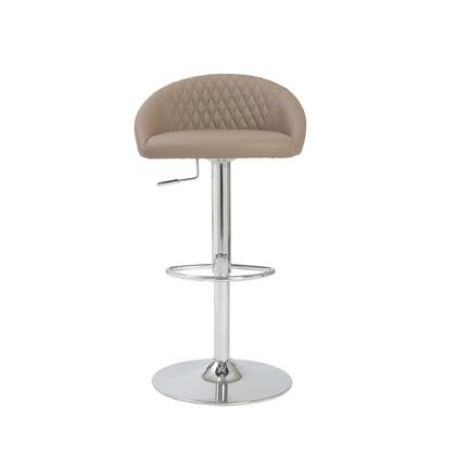 Euro Style 04368TPE Sinue Series Residential Faux Leather Upholstered Bar Stool