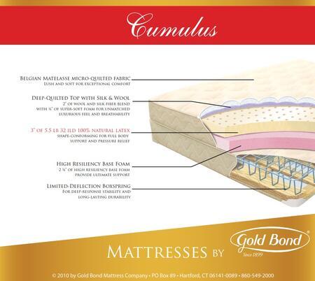 Gold Bond 866CUMULUSSETQ Natural Latex Queen Mattresses