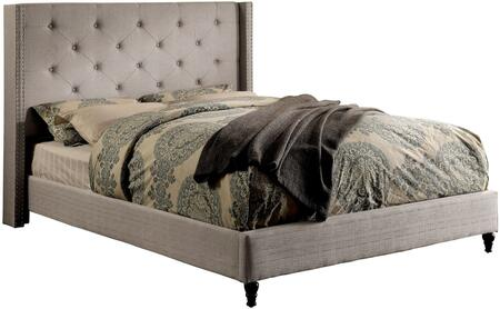 Furniture of America CM7677GYFBED Anabelle Series  Full Size Platform Bed