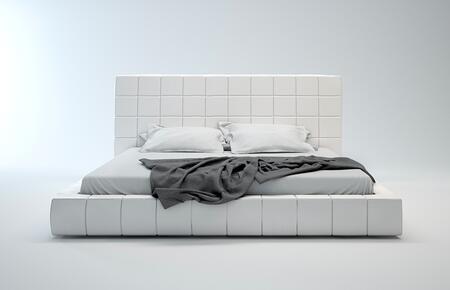 Modloft MD321CKWHT Thompson Series  California King Size Platform Bed