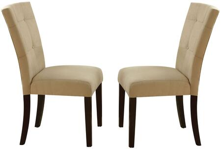 Acme Furniture Baldwin Collection 1683XX Side Chair with Microfiber Upholstered  Back and Seat, Button Tufting and Tapered Legs in