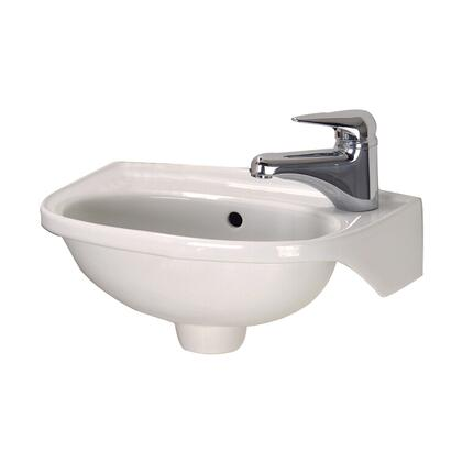 Barclay 4551 Tina Wall Hung Basin with Hangers having Hole on Right Side in
