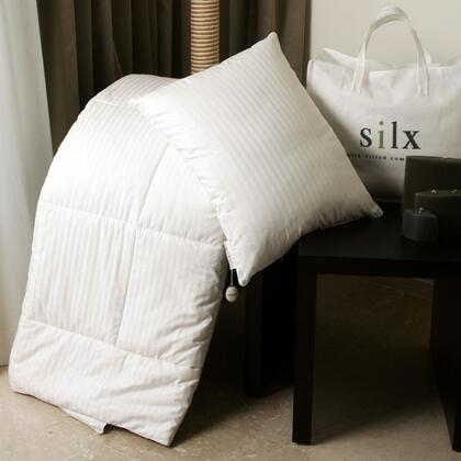 Silx SILX-COM-X Silk-filled X Comforter with Cotton Cover in White