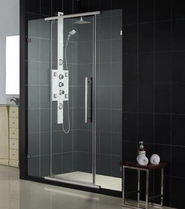 DreamLine SHDR-21587610 Vitreo Frameless Pivot Shower Door With Frameless Glass Design with Wall-Mounted Brackets, Reversible For Right Or Left Door Opening & In