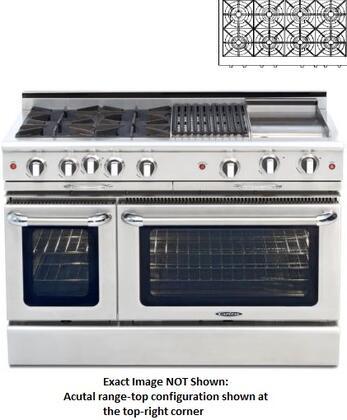 "Capital CGMR488N 48"" Culinarian Series Natural Gas Freestanding"