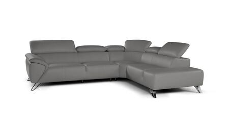 """J and M Furniture Tesla Collection 18128131-XHFC 112"""" 2-Piece Sectional Sofa with X Facing Chaise and X Facing Sofa in Grey"""