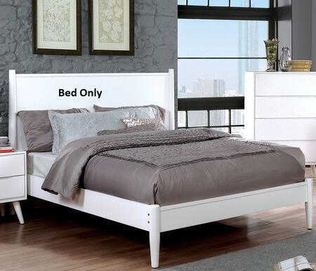 Furniture of America CM7386WHCKBED Lennart II Series  California King Size Panel Bed
