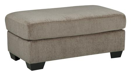 Benchcraft Kenzel 2040X14 Ottoman with Textured Fabric Upholstery, Wide Body and Thick Block Legs in