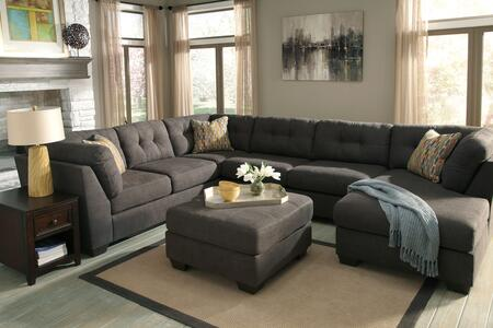 Milo Italia MI2144SECOT3STEE Gillian Living Room Sets