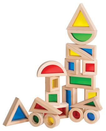 Guidecraft G308X Jr. Rainbow Blocks: X Piece Set