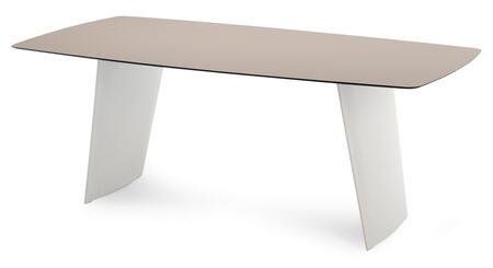 Domitalia STONET2011PEBIH Stone-r Rectangular Table with High Pressure Laminate Top and White Polyethylene Frame
