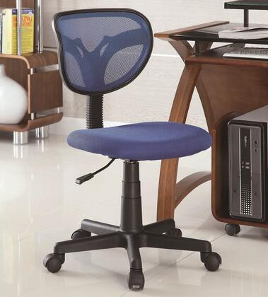 """Coaster Office Chairs Collection 800055 31.25"""" - 35.75"""" Task Chair with Adjustable Height, Curved Mesh Backrest, Casters and Fabric Seat Upholstery in"""