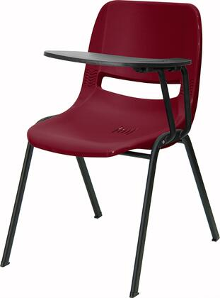 """Flash Furniture RUTEO1BYXTABGG 17.375"""" Ergonomic Shell Chair with Handed Flip-Up Tablet Arm, 880 lb Load Capacity, and Dual Steel Cross Braces Provide Extra Support in Burgundy"""