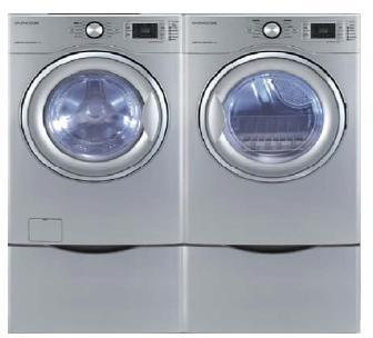 "Daewoo DWDWD1352SC 27""  Front Load Washer with 4.5 cu. ft Capacity 10 Wash Cycles 1300 RPM Steam Cycle 