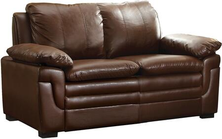 Glory Furniture G280L Faux Leather Stationary with Wood Frame Loveseat
