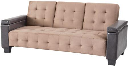 Glory Furniture G746S  Convertible Suede Sofa