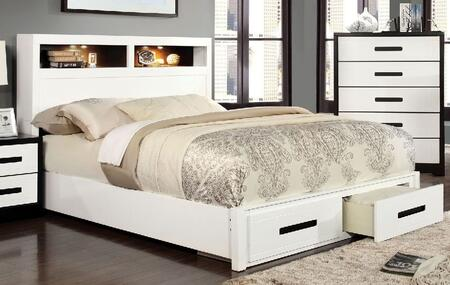 Furniture of America CM7298EKBED Rutger Series  Eastern King Size Bed