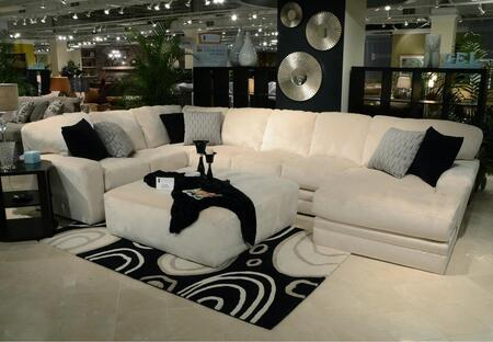 """Jackson Furniture Everest Collection 4377-62-30-76- 163"""" 3-Piece Sectional with Left Arm Facing Section with Corner, Armless Sofa and Right Arm Facing Chaise in"""