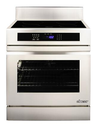 "Dacor RNR30N 30"" Freestanding Induction Range with Black Ceramic Glass, SenseTech Technology, 4.8 Cu. Ft. Oven Capacity, 2 GlideRacks and Hidden Bake Element:"
