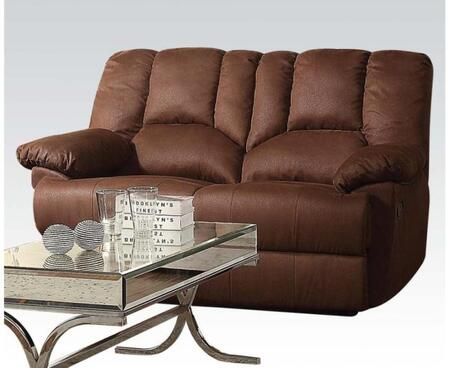 Acme Furniture 52146 Obert Series Fabric Reclining with Wood and Metal Frame Loveseat