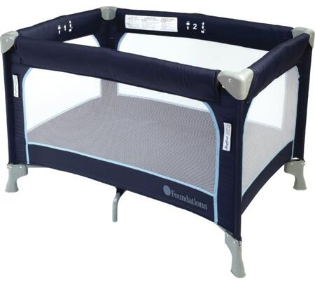 "Foundations SleepFresh 1456XXX 41"" Celebrity Portable Play-Yard/Crib with Carrying Bag, Safety Labels and Usage"