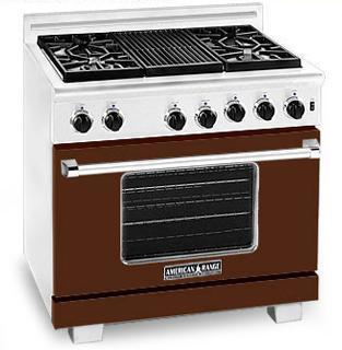 American Range ARR364GDHB Heritage Classic Series Natural Gas Freestanding Range with Sealed Burner Cooktop, 5.6 cu. ft. Primary Oven Capacity, in Brown
