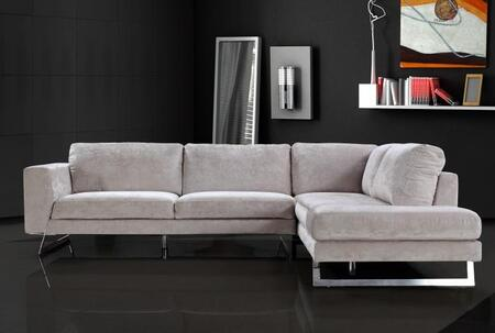 VIG Furniture VG2T0659  Sofa and Chaise Fabric Sofa