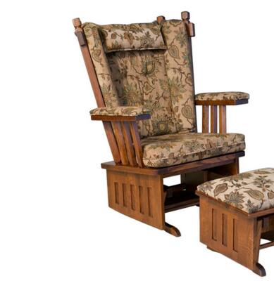 Chelsea Home Furniture 313003GRAIN  Glider Wood Frame Fabric Rocking Chair