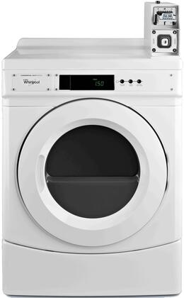"Whirlpool CxD9050AW 27"" Commercial Dryer with 6.7 cu. ft. Capacity, Large Capacity Metercase, Microprocessor Controls and x CFM Airflow, in White"