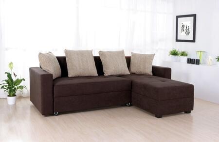 Acme Furniture 05098 Norwich Series Sectional Sofa Microfiber Sofa