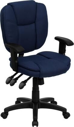 "Flash Furniture GO930FNVYARMSGG 19.75"" Contemporary Office Chair"
