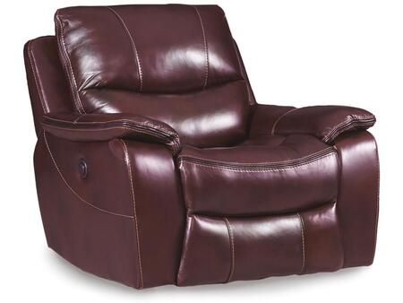 Red Wine with Black Trim Power Glider Recliner