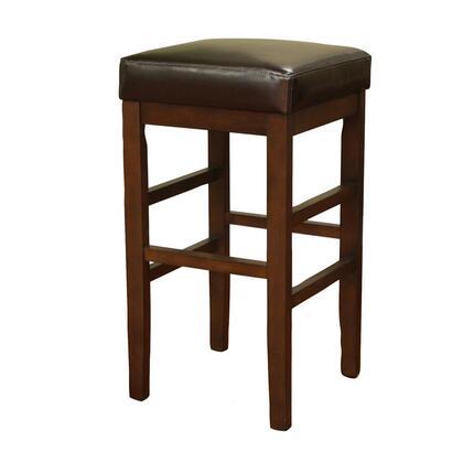 """American Heritage Empire Series 1XX845SR-L11 Transitional Stool with Plush 3"""" Cushion and Floor Glides & in Sierra Finish with Merlot Leather Seat"""