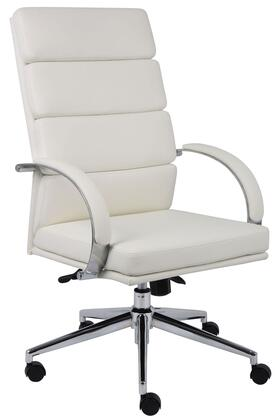 """Boss B9401WT 30.5"""" Adjustable Contemporary Office Chair"""