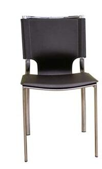 Wholesale Interiors ALC-1083 Montclare Series Set of 2 Leather Modern Dining Chairs: