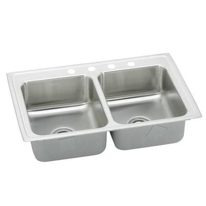 "Elkay PSR33190 33"" Top Mount 20-Gauge Double Bowl Stainless Steel Sink"