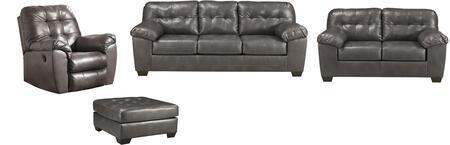 Milo Italia MI0210SLRO4PGRY Adriana Living Room Sets