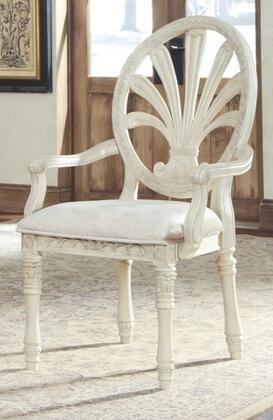 Milo Italia DR48451 Noemi Series Old World Fabric Wood Frame Dining Room Chair