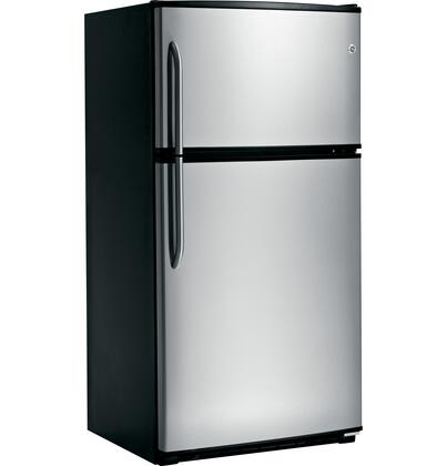 GE GTZ21GBESS  Refrigerator with 21.0 cu. ft. Capacity in Stainless Steel
