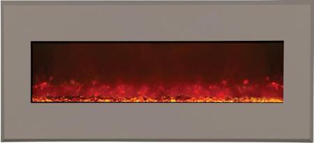 Amantii WMBI435123ARCHITECTSGRAY WMBI Series Wall Mountable Electric Fireplace