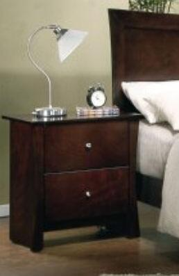 Yuan Tai ML3583N Milano Series Rectangular Wood Night Stand