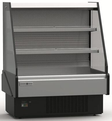 Hydra-Kool KGLOFxS Grab-N-Go Low Profile Case with cu. ft. Capacity, HP, LED Lighting, in Black