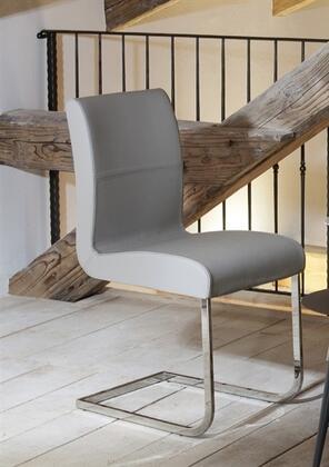"Casabianca Stella Collection TC-2005 38"" Dining Chair with Italian Leather Upholstery, Chrome Legs and Stitched Detailing in"