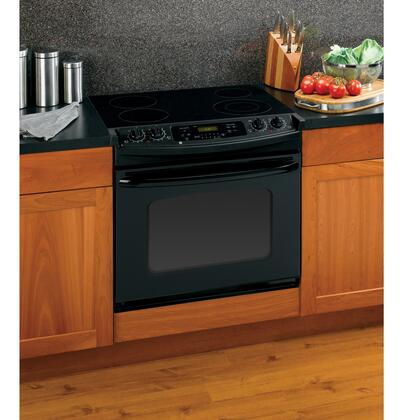 GE JDP42DTBB Profile Series Slide-in Electric Range with Smoothtop Cooktop 4.4 cu. ft. Primary Oven Capacity