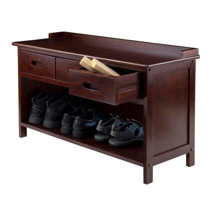Winsome 94Adr Adriana 3-Drawer Storage Bench