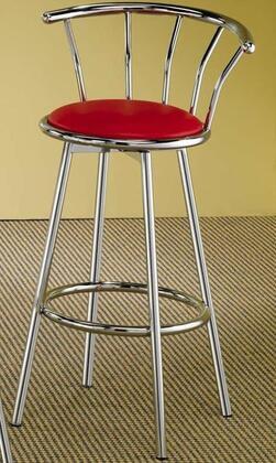 Coaster 2243R  Vinyl Upholstered Bar Stool