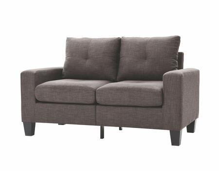 Glory Furniture G472AL Newbury Series Fabric Stationary Loveseat