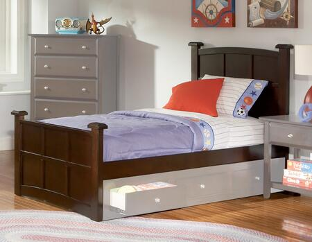 Coaster Jasper Collection Panel Bed with Transitional Design, Box Spring Required and Wood Construction in Cappuccino Finish